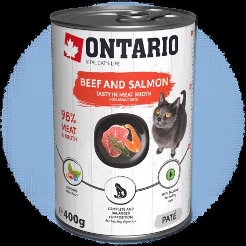 Konzerva Ontario Beef, Salmon, Sunflower Oil 400g