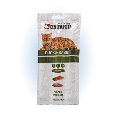 Ontario Stick for cats Duck&Rabbit 3x5 g