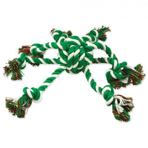 Rotaļlieta suņiem – DogFantasy Good's Cotton Rope Octopus, green-white, 45 cm title=