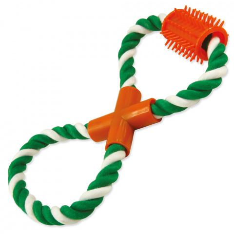 Игрушка для собак - DogFantasy Good's, игрушка из ткани, фигура-восьмерка, 25cm title=