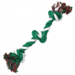 Rotaļlieta suņiem – Dog Fantasy Good's Cotton Rope with 3 Knots, green-white, 40 cm