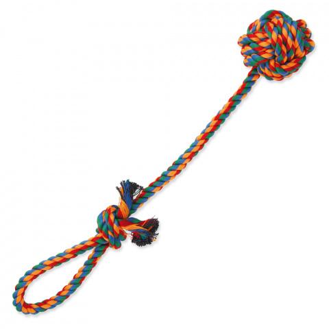 Игрушка для собак – DogFantasy Good's Cotton Colorful Ball for throwing, 45 см title=