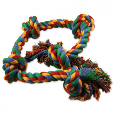 Rotaļlieta suņiem – Dog Fantasy Good's Cotton Colorful Playing Rope 5 knots, 95 cm title=