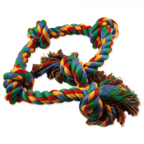 Rotaļlieta suņiem - Dog Fantasy Good's Cotton Colorful Playing Rope, 95 cm title=