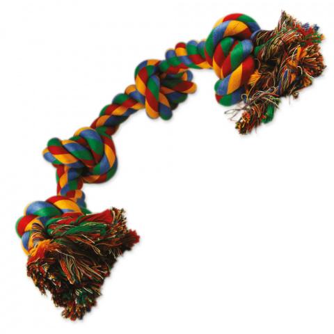 Игрушка для собак – DogFantasy Good's Cotton Colorful Playing Rope 4 knots, 60 см title=