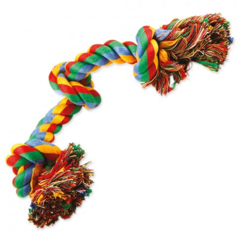Rotaļlieta suņiem – Dog Fantasy Good's Cotton Colorful Playing Rope 3 knots, 40 cm title=