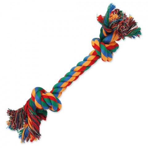 Rotaļlieta suņiem – Dog Fantasy Good's Cotton Colorful Playing Rope 2 knots, 25 cm title=