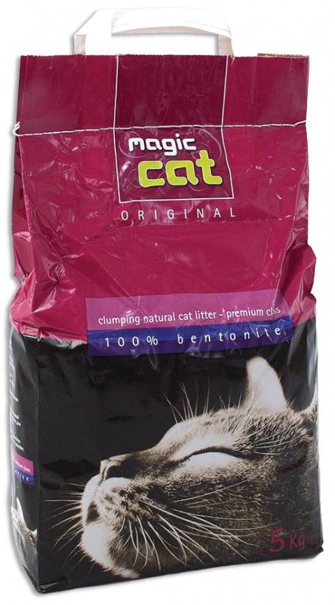 Cementējošās smiltis kaķu tualetei - Magic Cat Natural, 5 kg title=