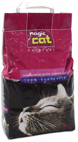 Cementējošās smiltis kaķu tualetei - Magic Cat Natural, 5 kg