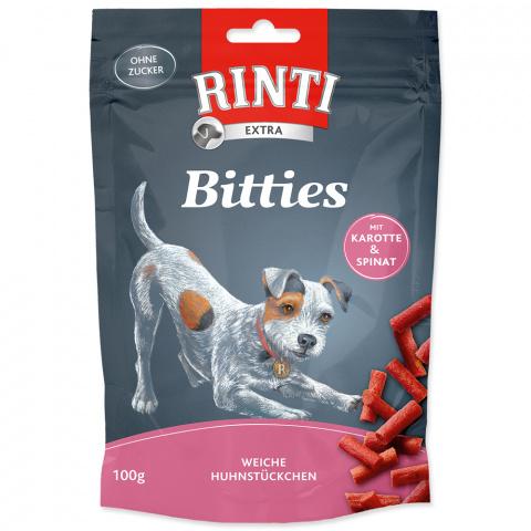 Gardums suņiem - Rinti Extra Bitties Carrot and Spinach, 100 g title=