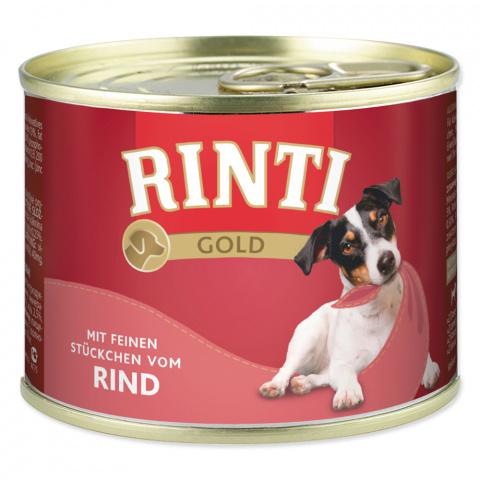 Konservi suņiem - Rinti Gold, ar liellopa gaļu, 185 gr