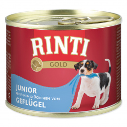 Konservi kucēniem - Rinti Gold Junior, ar cāļa gaļu, 185g