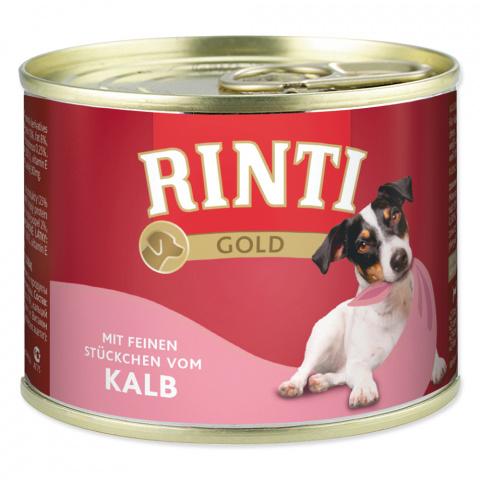 Консервы для собак - Rinti Gold, с телятиной, 185 г title=