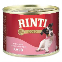 Консервы для собак - Rinti Gold, с телятиной, 185 гр