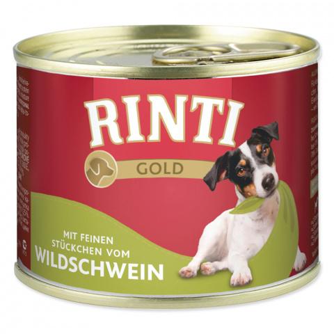 Консервы для собак - Rinti Gold, с мясом кабана, 185 г  title=