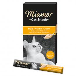 Лакомство для кошек - Miamor Мультивитаминный крем, 6*15 г