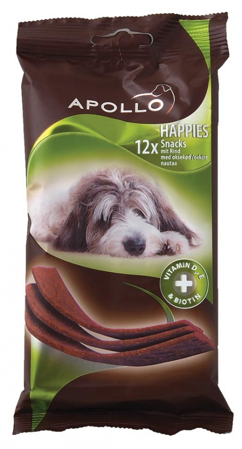Gardums suņiem - Apollo Happie 12*Strips Beef 120g