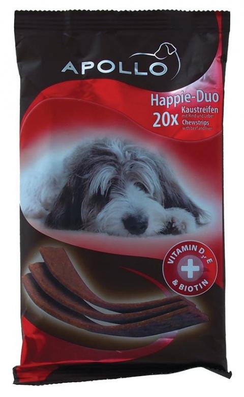 Лакомство для собак - Apollo Happie-Duo Beef & Liver 200g