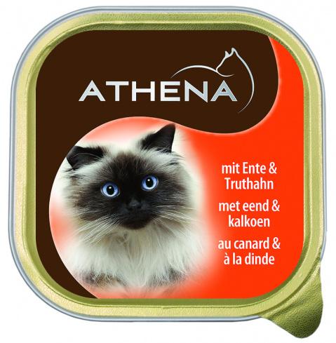 Konservi kaķiem - Athena Duck and Turkey, 100 g title=