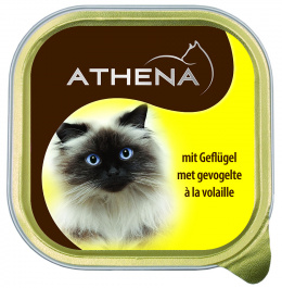 Консервы для кошек - Athena, 100г (домашняя птица)