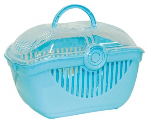 Транспортировочный контейнер для животных Small Animal Jewel Carrier синий
