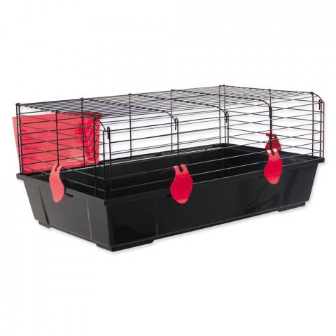 Клетка для кроликов - Small Animal Michal, 100*55*39 cm, черный/красный
