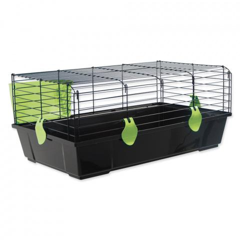 Клетка для кроликов - Small Animal Michal, 100*55*39 cm, цвет - черный/зеленый