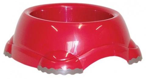 Миска для собак - DogFantasy, нескользящий, пластик, красный, 735 ml