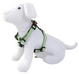 Krūšu siksna - DogFantasy Classic ādas, 15mm, 25-40cm, zaļa