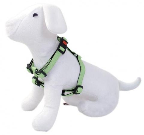 Шлейка - DogFantasy Classic кожа, 15mm, 25-40cm, зеленый
