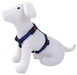 Krūšu siksna - DogFantasy Classic ādas, 15mm, 25-40cm, zila