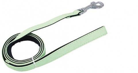 Pavada - DogFantasy Classic ādas, 25mm, 120cm, zaļa