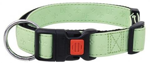 Kakla siksna - DogFantasy Classic ādas, 20mm, 40-55cm, zaļa title=