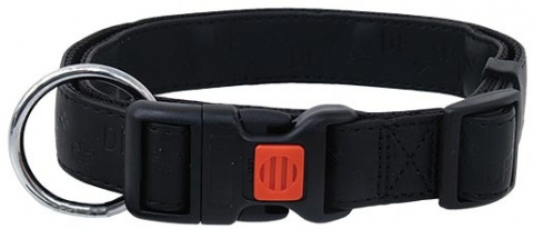 Kakla siksna - DogFantasy Classic ādas, 20mm, 40-55cm, melna