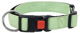 Kakla siksna - DogFantasy Classic ādas, 1.5mm, 30-45cm, zaļa