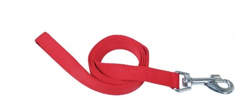 Поводок - DogFantasy нейлон, 20mm, 120cm, красный title=