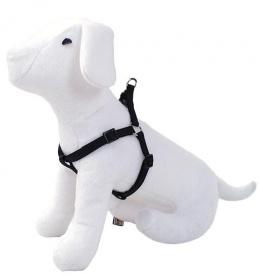 Krūšu siksna - DogFantasy neilona, 2,5cm, 60-90cm, melna