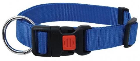 Ошейник - DogFantasy нейлон, 25mm, 45-65cm, синий