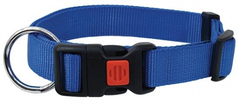 Ошейник - DogFantasy нейлон, 20mm, 40-55cm, синий title=