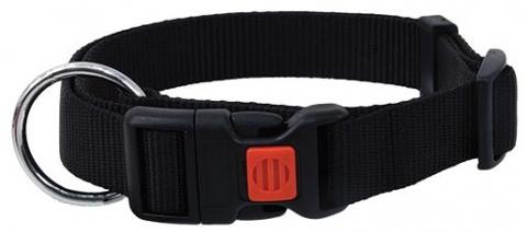 Ошейник - DogFantasy нейлон, 20mm, 40-55cm, черный