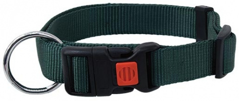 Ошейник - DogFantasy нейлон, 10mm, 20-35cm, зеленый title=