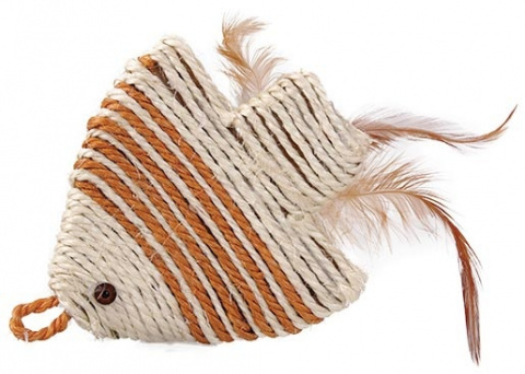 Rotaіlieta kaķiem - Natural sisal fish 11.5*11.5cm
