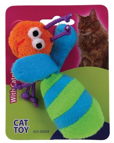 Игрушка для кошек Плюшевая пчела с кошачьей мятой