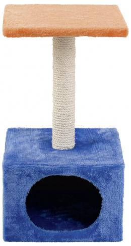 Mājiņa kaķiem - Hedvika, zila/oranža, 56 cm
