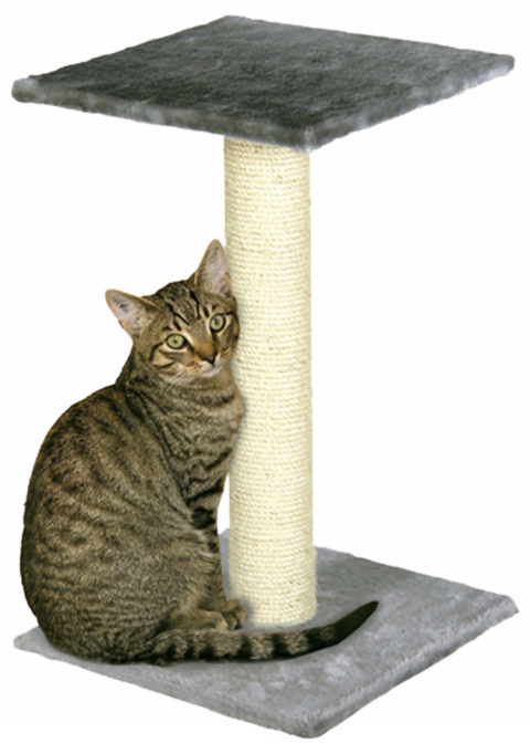 Когтеточка столбик – Beata 38 x 38 x 60 см, Grey title=