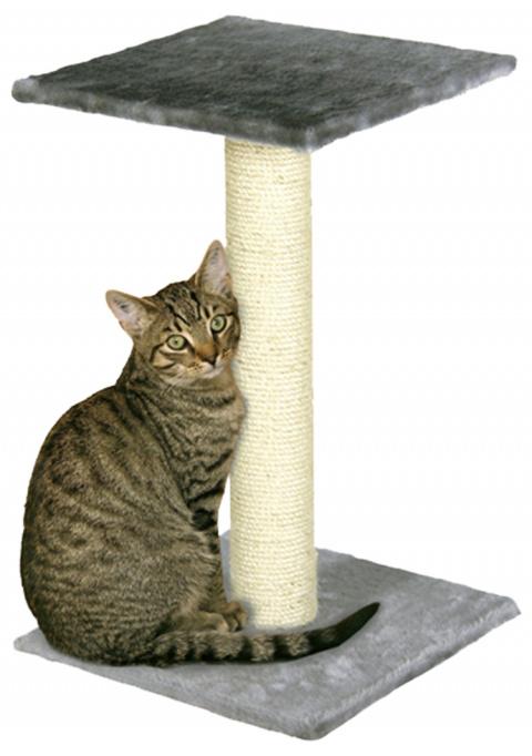 Когтеточка столбик - Beata 38x38x60 cm, серый