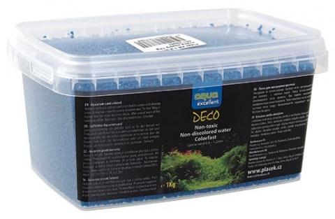 Грунт для аквариума - Aqua Excellent голубой, 1 kg title=