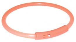 Atstarojošā kakla siksna suņiem - Safer Life Flash Light Band, M, 42cm, oranža