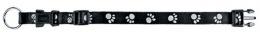 Atstarojošā kakla siksna suņiem - Paw Reflect Collar, L-XL, 45-66cm/25mm, melna