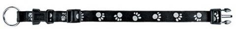 Отражающий ошейник для собак - Paw Reflect Collar, S-M, 40-55cm/20mm, черный